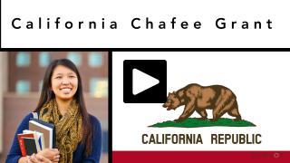 Thumbnail of California Chafee Grant