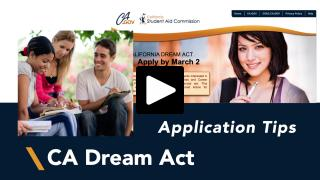 Thumbnail of California Dream Act Application Tips