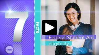 Thumbnail of A Minute to Learn It - Federal Aid Eligibility Video