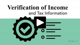 Thumbnail of Verification of Income and Tax Information